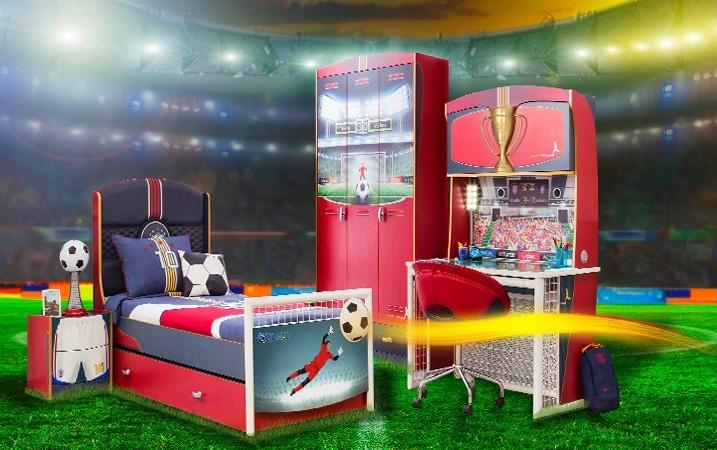 ¿Quieres crear una habitación de fútbol para niños?
